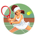 Beautiful girl play tennis Stock Photos