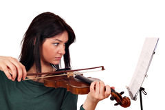 Beautiful girl play violin Stock Photos