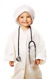 Beautiful girl playing doctor Royalty Free Stock Photo
