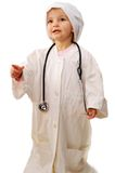 Beautiful girl playing doctor Stock Photography
