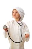 Beautiful girl playing doctor Royalty Free Stock Image