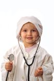 Beautiful Girl Playing Doctor Royalty Free Stock Photography