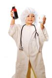 Beautiful girl playing doctor Stock Photos