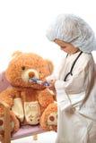 Beautiful girl playing doctor Royalty Free Stock Image