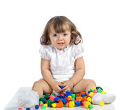 Beautiful girl playing Stock Image