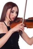 Beautiful girl playing violin Stock Photo