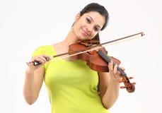 Beautiful girl playing violin Stock Photos