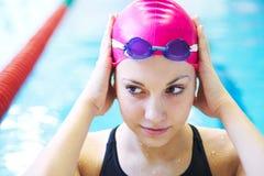 Beautiful girl  at the pool Stock Image