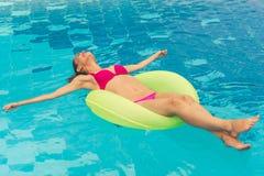 Beautiful girl at the pool Royalty Free Stock Photos