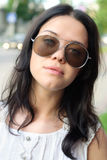 Beautiful girl portrait. Aviator sunglasses Stock Photography