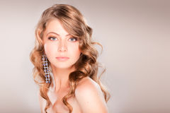 Beautiful girl portrait with blonde hair. Beautiful girl portrait with long blonde hair Royalty Free Stock Photo