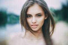Beautiful girl portrait - close up.  stock photo