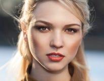 Beautiful girl portrait. Outdoor shot Royalty Free Stock Image