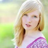 Beautiful girl portrait - outdoors. Closeup. Beautiful girl portrait - outdoors - Closeup stock photography