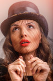 Beautiful girl portrait vintage style Royalty Free Stock Photography