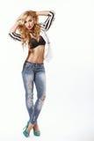 Beautiful girl posing in the studio Stock Photo