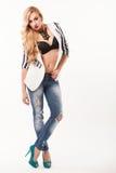 Beautiful girl posing in the studio Stock Images