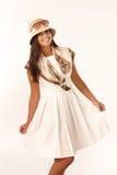 Beautiful girl posing in summer dress Royalty Free Stock Photos