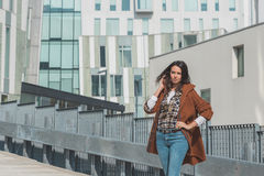 Beautiful girl posing in an urban context Royalty Free Stock Photography