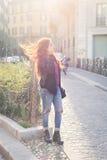 Beautiful girl posing in an urban context Royalty Free Stock Photography