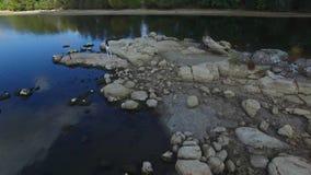 Beautiful Girl Posing, Walk Along The River stock video footage