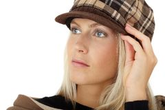 Beautiful girl posing with winter hat Royalty Free Stock Photo