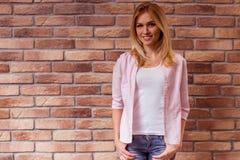 Beautiful girl posing stock image