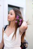 Beautiful girl in Positano on the Amalfi posing in the street Royalty Free Stock Image