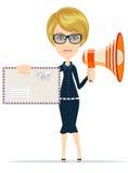 Beautiful girl postman, vector illustration Stock Image