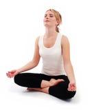 Beautiful girl practicing yoga Royalty Free Stock Photography