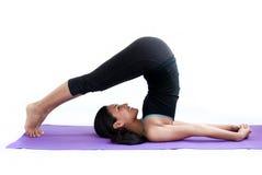 Beautiful girl practising yoga Stock Photography