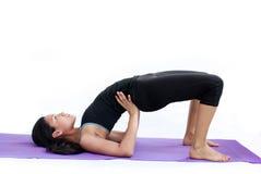 Beautiful girl practising yoga Royalty Free Stock Image