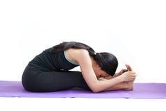Beautiful girl practising yoga Stock Photo