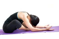 Beautiful girl practising yoga Stock Image