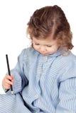 Beautiful girl with preschool uniform Stock Photo