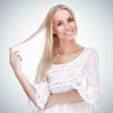 Beautiful girl with pretty smile Royalty Free Stock Photo