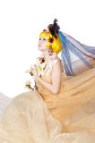 Beautiful girl the princess in a fabric Royalty Free Stock Images