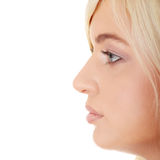 Beautiful girl in profile Royalty Free Stock Images