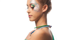 Beautiful girl profile Stock Photo