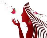 Beautiful girl in profile Stock Image