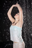 Beautiful girl in the rain Royalty Free Stock Photography