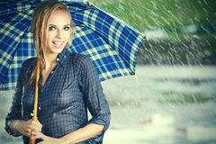 Beautiful girl in rain Royalty Free Stock Photo