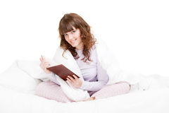 Beautiful girl reading book Royalty Free Stock Image