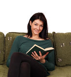 Beautiful girl reading book Stock Image
