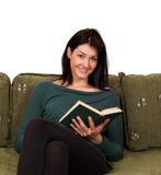 Beautiful girl reading book Stock Image