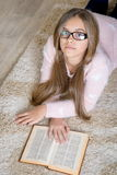 Beautiful Girl Reading Book. Royalty Free Stock Photography