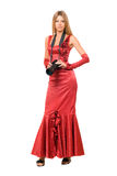 Beautiful girl in red dress Royalty Free Stock Photo