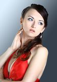 Beautiful girl in the red dress Royalty Free Stock Image