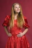 Beautiful  girl in red dress Stock Photo