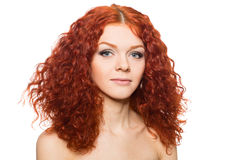 Beautiful girl with red hair. Stock Photography